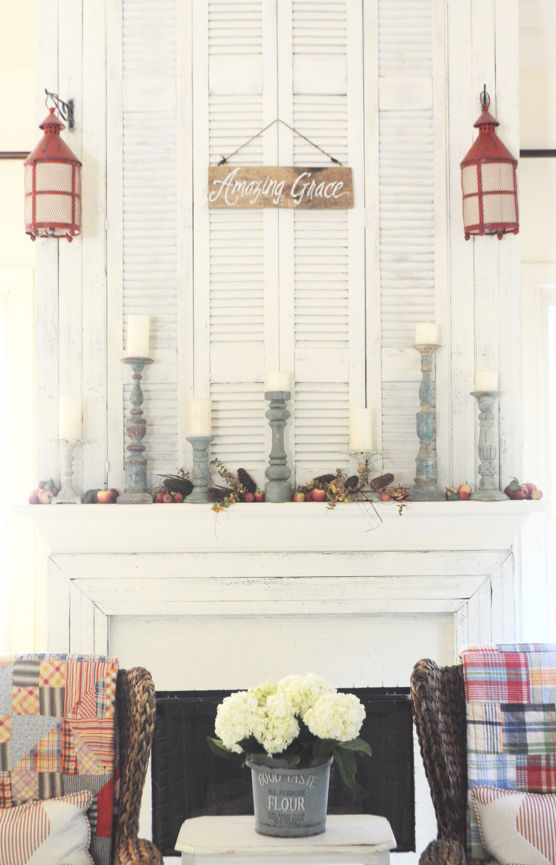 Life On The Shady Grove White Farmhouse Home Tour at Fox Hollow Cottage